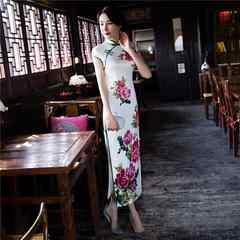 花柄 チャイナドレス Mサイズ 新品未使用