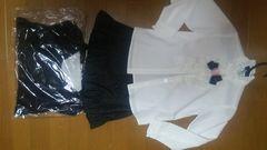 美品カーディガン、シャツ、スカート三点セット120cm入園卒園フォーマル。クリーニング済