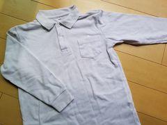 長袖 ポロシャツ 白 冠婚葬祭 140