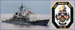 アメリカ海軍 ミサイル巡洋艦 モービル ベイ パッチ