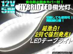 12V5M巻カバー付LEDテープライト/蛍光灯/アンダーライト/投光器