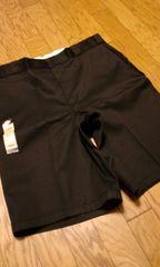 Dickiesディッキーズハーフパンツ 黒ブラック サイズW44 リラックスフィット W114cm