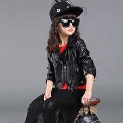 ★新品★140 レザージャケット ライダースジャケット 黒