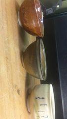 A。小生の抹茶碗コレクション3点で。