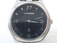 6412/LANCELランセル★ラウンドフェイス人気のブラックダイヤルメンズ腕時計