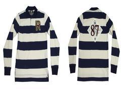セール新品USA RUGBY ASSOCIATION★ロングポロシャツSラグビーシャツ