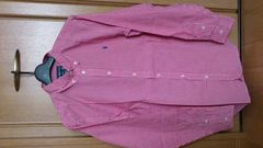 激安72%オフPolo、ポロ・ラルフローレン、長袖シャツ(新品タグ、赤白チェック、メンズM)