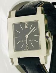 良品ブルガリクアドラードレディース時計SQ22SL黒レザーベルト