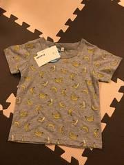 しまむら購入 バナナ柄プリントTシャツ 新品未使用 100