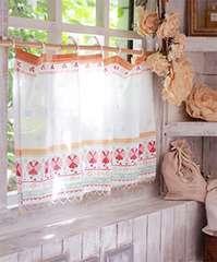 パローツカフェカーテン 小窓 棚目隠し キッチン ハンガリー