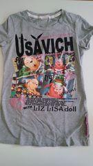 LIZ LISA dollウサビッチとコラボ 半袖Tシャツ バクプリ��