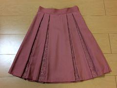 レストローズ☆バラ柄刺繍レース スカート☆MTサイズ☆美品