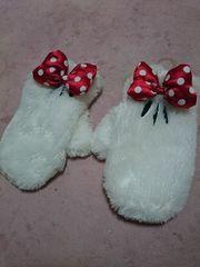ディズニー購入ミニーちゃんミニーマウスふわふわ手袋