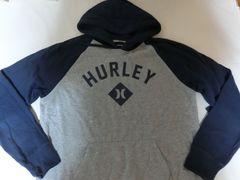 USA購入【hurley】ロゴプリント プルオーバーパーカーUS M 灰