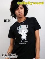 89HOLLYWOOD×ONE PIECEコラボチョッパーTシャツ/黒M
