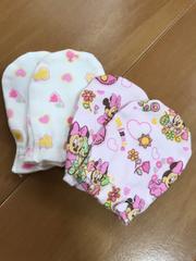 新品★ミニーちゃんミトン2p/出産準備
