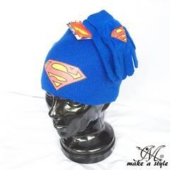 SUPERMAN スーパーマン ニットキャップ ニット帽 子供用 手袋806