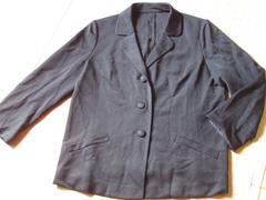 レディース*長袖ジャケット(ブラック)19号フォーマル