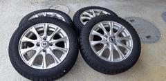 155/65R14 スタッドレスタイヤ、アルミホイール付き4本セット