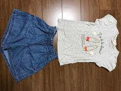 HusHusHシューズが可愛いTシャツ☆GUショートパンツ