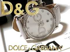 【箱・購入証明付】1スタ★ドルガバ【ジルコニア】美品 腕時計