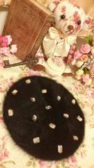 ◆キラキラビジュー◆ファーベレー帽(o´∀`o)☆