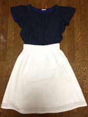 エディットコロン*パンチングレーススカート*ホワイト*2