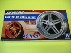 アオシマ 1/24 ザ・チューンドパーツ No.05 ワーク グノーシスGS2 19インチ 新品 極タイヤ