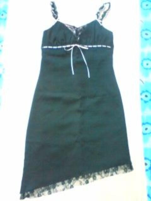 エロカワ小悪魔ワンピ黒ピンク レース アシンメトリ アゲハキャバ  < 女性ファッションの