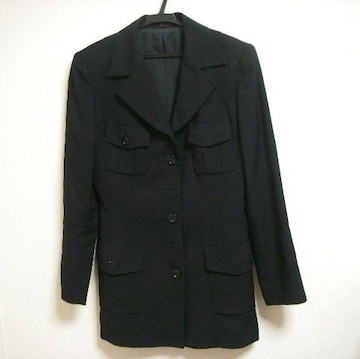 J&R ブラック 長め丈 ジャケット? コート? M