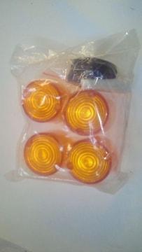 ヨーロピウインカーレンズオレンジ丸型大新品190