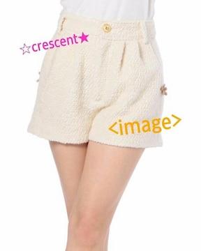 モコモコショートパンツ☆リズリサ☆新品♪ホワイト/ショーパン/花/リボンボタン/LIZ LISA