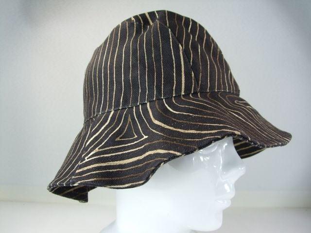 美品ボッテガヴェネタコットンハット帽子57 黒系 < ブランドの