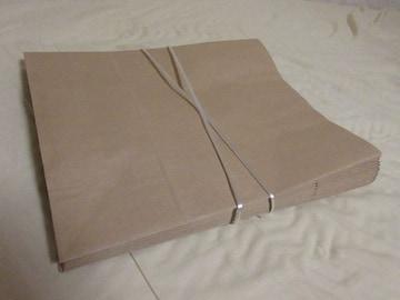 [新品]★紙手提袋 平紐 大 茶無地14枚セット☆♪入学式等イベントに