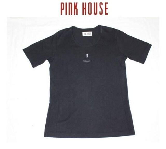 ピンクハウス*PINK HOUSE★ロゴ入りカットソーTシャツ/used  < ブランドの