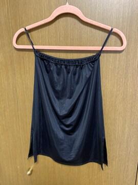 �@インナースカート  ブラック 透け防止 ペチコート