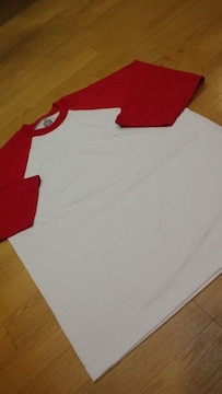 PROCLUBラグラン 七分袖切り返し Tシャツ 白赤 XL