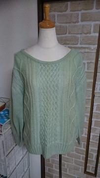 美品 セーターニット Mサイズ グリーン
