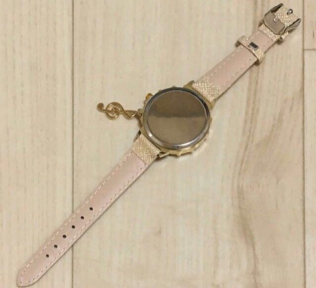 大特価スタート☆ト音記号 レディース腕時計 シャンパンゴールド