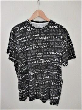 ☆アルマーニ エクスチェンジ 総ロゴ Tシャツ 半袖/メンズ/XL