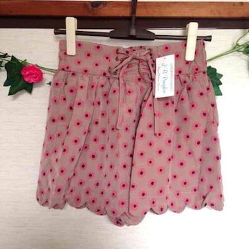 定価6900円 JBパンプキン ピンク 花 ショートパンツ キュロット