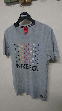 NIKE FC スター星柄プリントTシャツ ナイキ L グレー