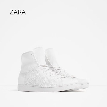 ☆ZARA/ザラ ホワイト スニーカー/メンズ/27cm/白☆新品