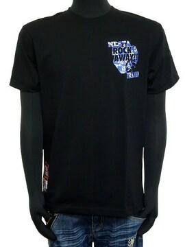 新品ネスタ192NB1004DRY総柄ペーストTシャツ黒M