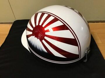 赤ラメ 富士日章 コルク半 ヘルメット 三段シート CBX400F 風防
