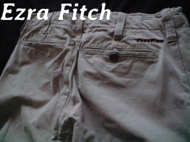 【Ezra Fitch】最高峰 Vintage Destroyed チノパンツ 32/Khaki アバクロ < ブランドの