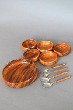 新品 天然木 サラダボウル 5客セット まとめて 職人 食器 手作り