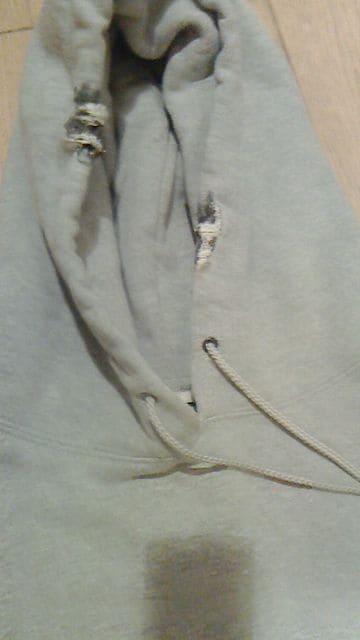 ART OF ROCKダメージ加工ロッキン短丈パーカーアートロックノーブランドクリームソーダ < 男性ファッションの