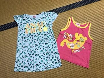 美品 ANAP kids チュニック Tシャツ タンクトップ  キッズ 110