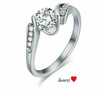 送料無料10号シルバースーパーCZダイヤデザイナーズリング指輪